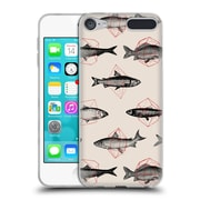 Official FLORENT BODART ANIMALS 2 Fishes In Geometrics Soft Gel Case for Apple iPod Touch 6G 6th Gen (C_157_1AF8F)