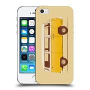 Official FLORENT BODART VEHICLES Yellow Van Soft Gel Case for Apple iPhone 5 / 5s / SE (C_D_1AFDD)