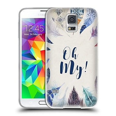 Official KRISTINA KVILIS FEATHERS Oh My Soft Gel Case for Samsung Galaxy S5 / S5 Neo (C_AB_1DE05)