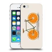Official FLORENT BODART BIKES Orange Wheels Soft Gel Case for Apple iPhone 5 / 5s / SE (C_D_1AF98)