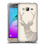Official FLORENT BODART ANIMAL LINES Stag Beige Soft Gel Case for Samsung Galaxy J3 (C_1B6_1AF7C)