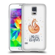 Official KRISTINA KVILIS CHRISTMAS Fox 2 Soft Gel Case for Samsung Galaxy S5 / S5 Neo (C_AB_1DDE9)