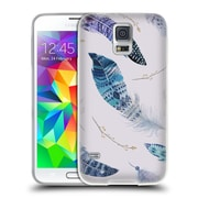 Official KRISTINA KVILIS FEATHERS Flying Soft Gel Case for Samsung Galaxy S5 / S5 Neo (C_AB_1DE02)