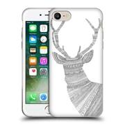 Official FLORENT BODART ANIMAL LINES Stag White Soft Gel Case for Apple iPhone 7 (C_1F9_1AF7D)