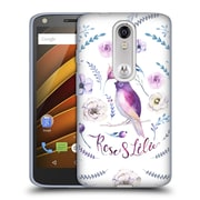 Official KRISTINA KVILIS BIRDS Rose And Lily 3 Soft Gel Case for DROID Turbo 2 / X Force (C_1C3_1DDD6)