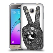 Official JOEL GRATTE BLACK AND WHITE Hand Peace Soft Gel Case for Samsung Galaxy J3 (C_1B6_1E071)