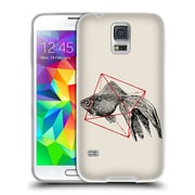 Official FLORENT BODART ANIMALS 2 Fish In Geometrics Soft Gel Case for Samsung Galaxy S5 / S5 Neo (C_AB_1AF8E)