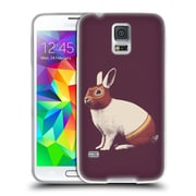 Official FLORENT BODART ANIMALS Rabbit White Westler Soft Gel Case for Samsung Galaxy S5 / S5 Neo (C_AB_1AF8A)