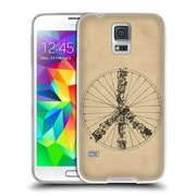 Official FLORENT BODART BIKES Peace Lines Soft Gel Case for Samsung Galaxy S5 / S5 Neo (C_AB_1AF99)