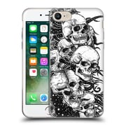 Official JOEL GRATTE BLACK AND WHITE Skulls Soft Gel Case for Apple iPhone 7 (C_1F9_1E074)