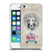 Official KRISTINA KVILIS TYPOGRAPHY Leon Soft Gel Case for Apple iPhone 5 / 5s / SE (C_D_1DE22)