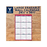 """2022 AT-A-GLANCE 36.5"""" x 24.25"""" Yearly Calendar, White/Red (PM26-28-22)"""