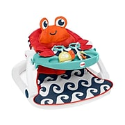 Fisher-Price Sit-Me-Up Fabric Kids Floor Seat with Tray, Multicolor (GBL28)