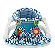 Fisher-Price Sit-Me-Up Fabric Kids Floor Seat, White/Blue (FKD95)