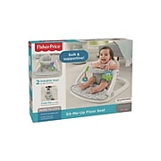Fisher-Price Sit-Me-Up Fabric Kids Floor Seat, White/Gray/Blue/Green (FLD88)