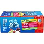Capri Sun® 100% Juice, 6 fl. oz. Pouches, Variety Pack, 40/Box (00441)