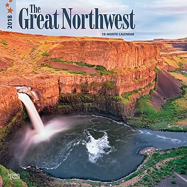 Great Northwest, The 2018 12 x 12 Inch Monthly Square Wall Calendar