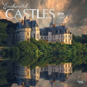 Enchanted Castles 2018 12 x 12 Inch Square Wall Calendar with Foil Stamped Cover