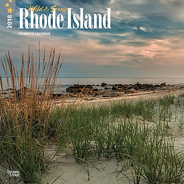 Rhode Island, Wild & Scenic 2018 12 x 12 Inch Monthly Square Wall Calendar