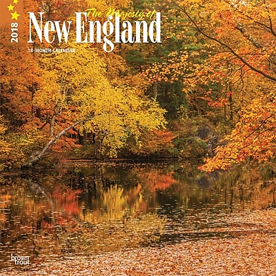 Majesty of New England, The 2018 12 x 12 Inch Monthly Square Wall Calendar
