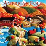 American Folk 2018 12 x 12 Inch Monthly Square Wall Calendar by Hopper Studios