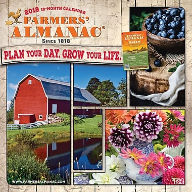 Farmers Almanac 2018 12 x 12 Inch Monthly Square Wall Calendar - Weather