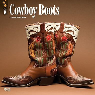 Cowboy Boots 2018 12 x 12 Inch Monthly Square Wall Calendar