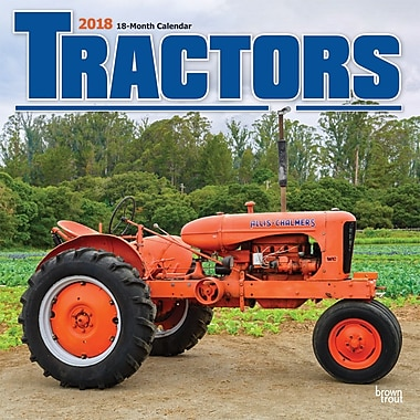 Tractors 2018 12 x 12 Inch Monthly Square Wall Calendar