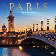 Paris 2018 12 x 12 Inch Square Wall Calendar with Foil Stamped Cover
