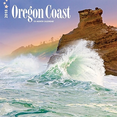 Oregon Coast 2018 12 x 12 Inch Monthly Square Wall Calendar