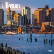 Boston 2018 12 x 12 Inch Monthly Square Wall Calendar
