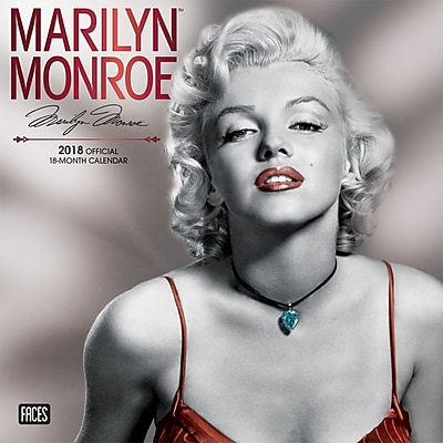Marilyn Monroe 2018 12 x 12 Inch Monthly Square Wall Calendar by Faces with Foil Stamped Cover