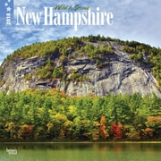 New Hampshire, Wild & Scenic 2018 12 x 12 Inch Monthly Square Wall Calendar