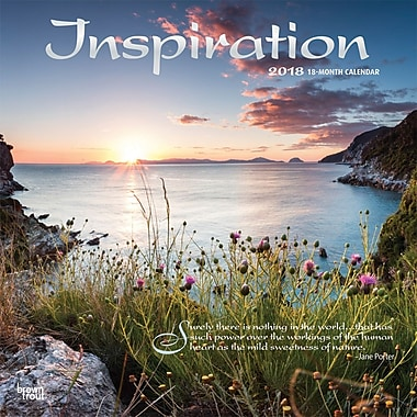 Inspiration 2018 12 x 12 Inch Square Wall Calendar with Foil Stamped Cover