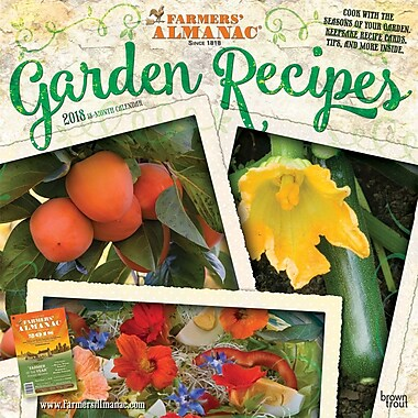 Farmers Almanac Garden Recipes 2018 12 x 12 Inch Monthly Square Wall Calendar - Weather
