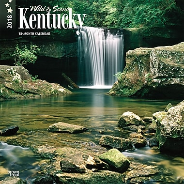 Kentucky, Wild & Scenic 2018 12 x 12 Inch Monthly Square Wall Calendar