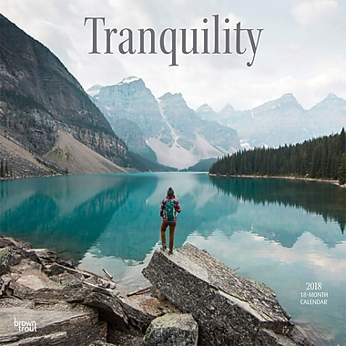 Tranquility 2018 12 x 12 Inch Square Wall Calendar