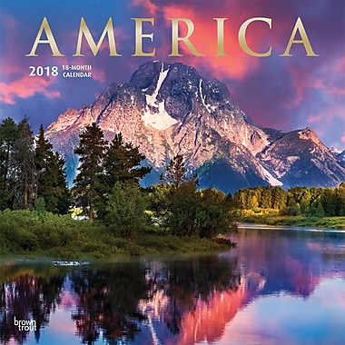 America 2018 12 x 12 Inch Monthly Square Wall Calendar with Foil Stamped Cover