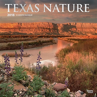 Texas Nature 2018 12 x 12 Inch Monthly Square Wall Calendar
