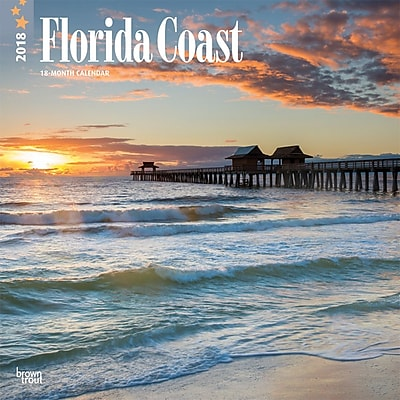 Florida Coast 2018 12 x 12 Inch Monthly Square Wall Calendar