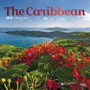 The Caribbean 2018 12 x 12 Inch Square Wall Calendar with Foil Stamped Cover