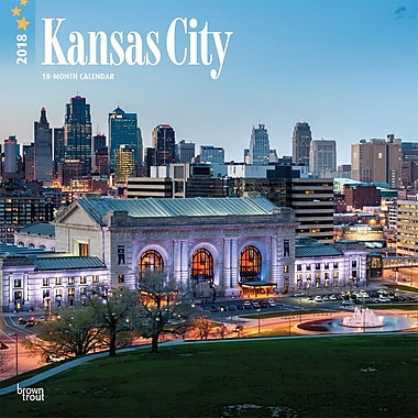 Kansas City 2018 12 x 12 Inch Monthly Square Wall Calendar