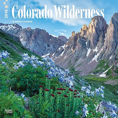 Colorado Wilderness 2018 12 x 12 Inch Monthly Square Wall Calendar