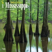 Mississippi, Wild & Scenic 2018 12 x 12 Inch Monthly Square Wall Calendar