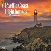 Lighthouses, Pacific Coast 2018 12 x 12 Inch Monthly Square Wall Calendar