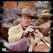 John Wayne in the Movies 2018 12 x 12 Inch Monthly Square Wall Calendar with Foil Stamped Cover