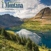 Montana, Wild & Scenic 2018 12 x 12 Inch Monthly Square Wall Calendar