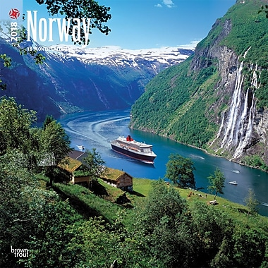 Norway 2018 12 x 12 Inch Square Wall Calendar