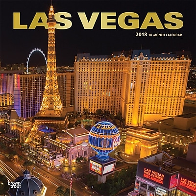 Las Vegas 2018 12 x 12 Inch Monthly Square Wall Calendar with Foil Stamped Cover