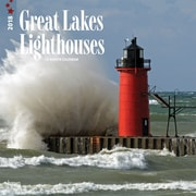 Lighthouses, Great Lakes 2018 12 x 12 Inch Monthly Square Wall Calendar